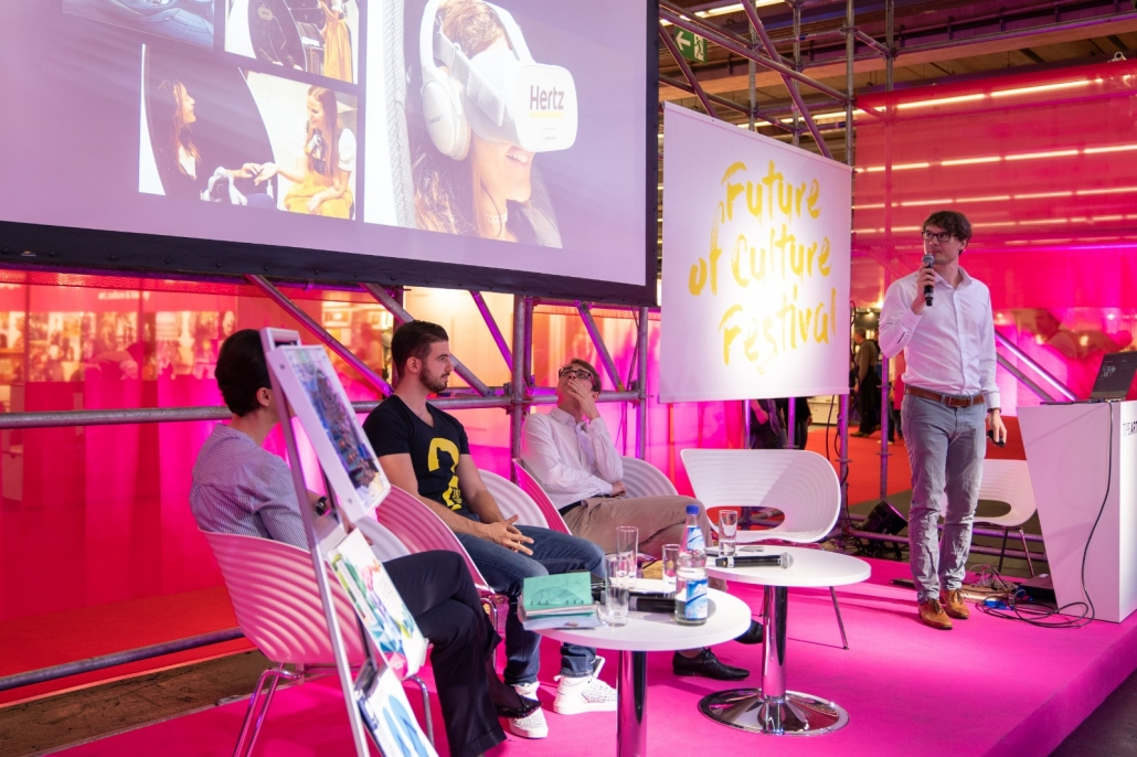 "We give a lecture on the topic of art and VR at ""The Arts+"" of the Frankfurt Book Fair"