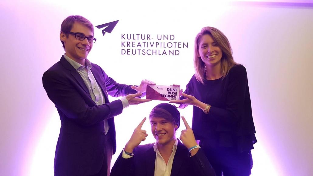 Team TimeLeapVR bei der Auszeichnung der Kultur-und Kreativpiloten in Berlin