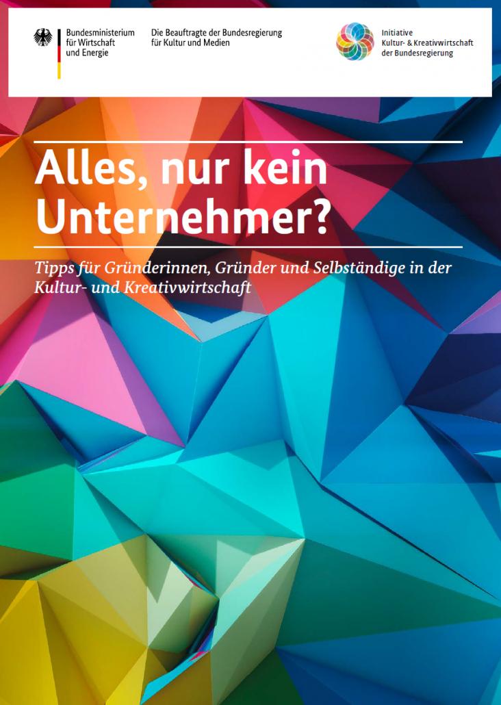 """""""Alles, nur kein Unternehmer"""" - Titelseite"""